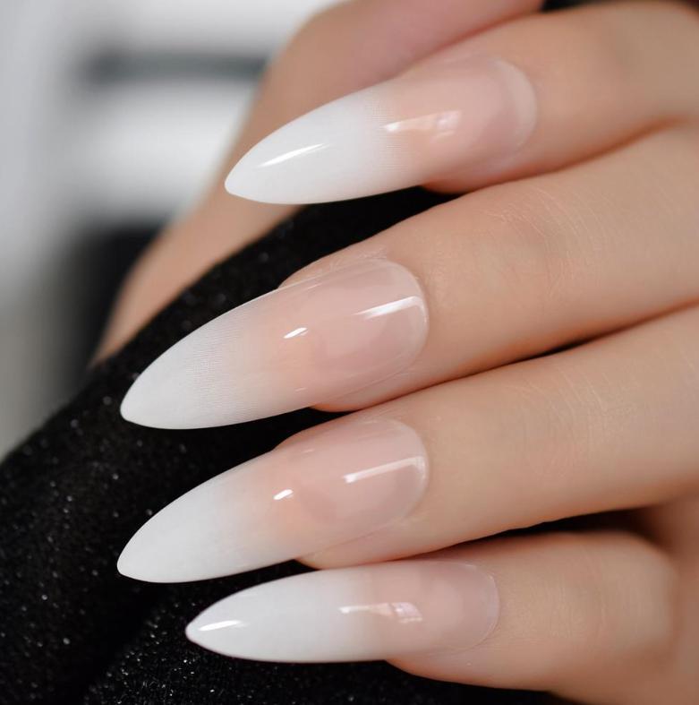 Modele de unghii french în stil ombre