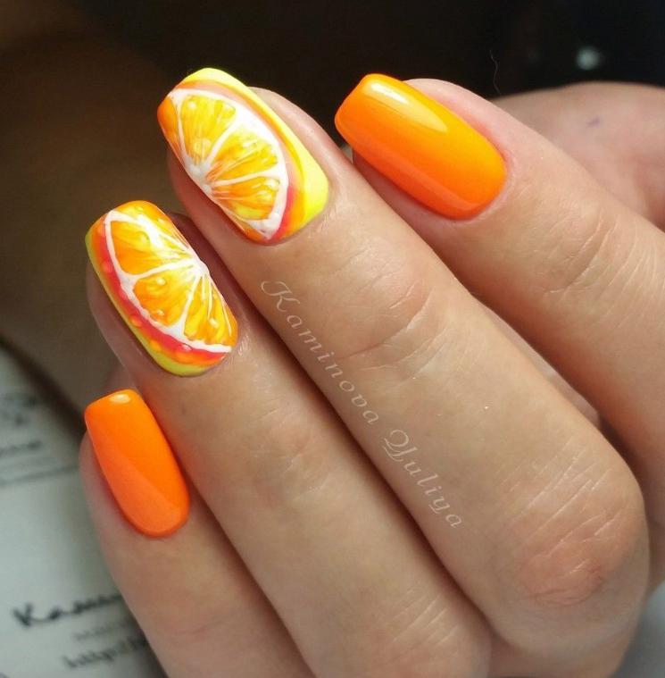 Modele unghii de vara cu fructe