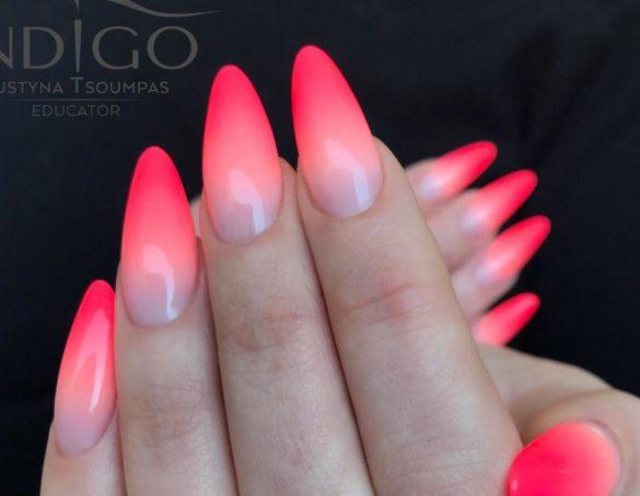 model unghii cu gel ombre