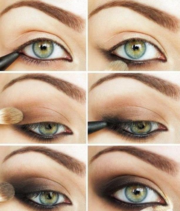 machiaj smokey eyes ochi albastri