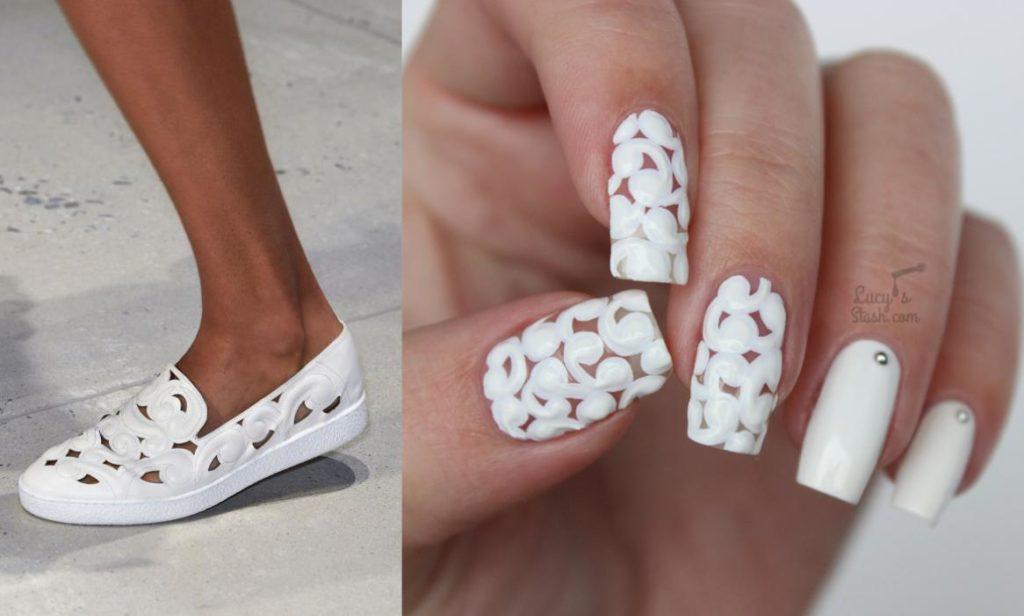 model unghii cu gel albe